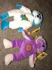 2 Funky Outer Space Beanie Kids. Al The Alien & Astro The Astronaut. Both  + Tag