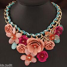 Bellissima collana shourouk Belen girocollo multicolore con fiori in metallo