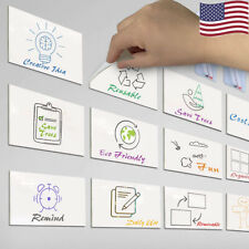612x Dry Erase Wipe Sticky Notes Whiteboard Memo Notice Adhesive Labels Sticker