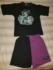 Vintage Boyz American Beach Outfit Shirt and Shorts Boys Size Large