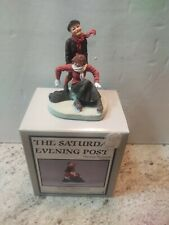"""Norman Rockwell The Saturday Evening Post """"Skaters"""" Dave Grossman New"""