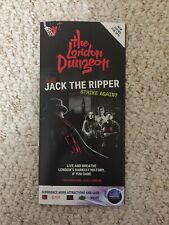 The London Dungeons Map Brochure Leaflet Guide 2019