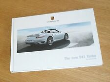 Porsche 911 991 Turbo & Turbo S Brochure 2013-2014 - Coupe & Cabriolet