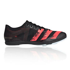 adidas Womens Distancestar Running Spikes Traction Black Sports Breathable
