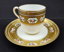 Antique Minton Demitasse Cup & Saucer, Tiny Roses