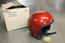 Vintage 1966 SHOEI DS-D3 Red Metal Flake Motorcycle Helmet Size XL  X-Large