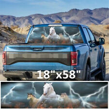 147x46cm Rear Window Graphic Decal White Horse Running Sticker For Car Truck SUV