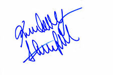 PLAYMATE / MODEL KIMBERLEY STANFIELD HANDSIGNED 6 x 4 WHITE CARD