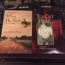 Wendy Mnookin : What He Took / To Get Here SIGNED poetry books