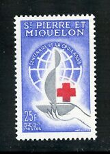 St. Pierre et Miquelon Complete MNH Single #367 Red Cross Centenary Issue Stamp