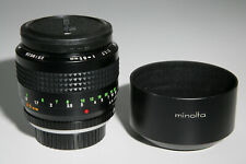 {Mint} Minolta MC Rokkor 85mm f1.7 S/N 2519626