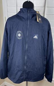Adidas MLS Chicago Fire FC Navy Blue Windbreaker Jacket GK1767, Mens M, NWT $120