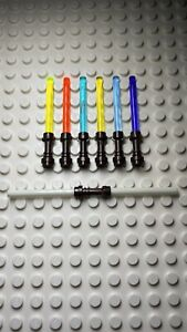 7 Lego Lightsabers With Brown Hilts  Incl Glow In The Dark 🔥 Double Bladed 🔥