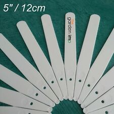More details for plant labels 5 inch   white plastic garden pot markers, id tags 50, 100 or 1000