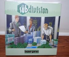 (NEW SEALED) SUBDIVISION LUCAS HEDGREN BOARD GAME FAMILY GROUP FUN NIGHT
