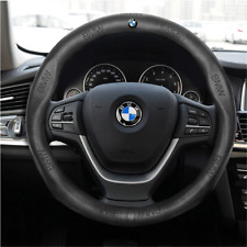 38CM  Car Steering Wheel Cover Fit For BMW Series Black Leather Skidproof Nice