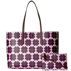 Kate Spade New York 249633 Womens Molly Large Leather Tote Bag Purple