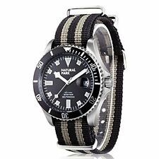 Men Sport Casual Watch with Black Dial Luminous Hands Black and Nylon Strap