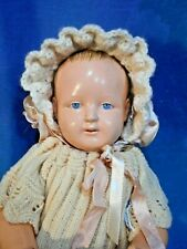 Antique 1910s Petitcollin French Celluloid Eagle Mk Baby Doll Vtg Costume Db12