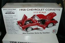"""1958 Chevy Corvette """"Red"""" Hardtop Gearbox 1:12 Scale Diecast Convertible NIB"""
