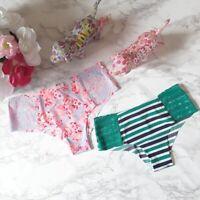 2 NEW PINK Victoria's Secret No-Show Cheekster Panties LOT OF 2 Size S M L
