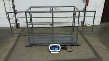 2200 lb capacity Livestock Hog Goat Sheep Pig Scale with cage