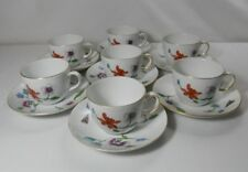Royal Worcester Astley-Oven to Table Set of 7 Cups and Saucers