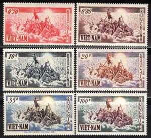 Viêt Nam - 1955 - Exode  - N° 32 à 37 - Neufs * - MNH