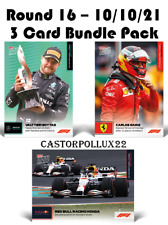 2021 F1 3 Card Set 61 62 63 Topps Now Formula 1 Bottas Verstappen Perez Sainz