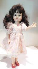 "1950's Artisan Miss Gadabout 19"" Hard Plastic Head Turning Walker Brunette Doll"