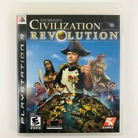 Sid Meiers Civilization Revolution (Playstation 3 PS3, NTSC) Manual Included