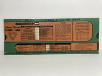 Vintage GENERAL CABLE CORP Calculator Slide Chart Rule 1954 Motor Wiring Data