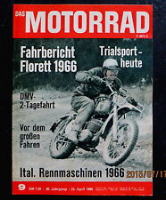Das Motorrad 09/66 Fahrbericht Kreidler Florett, Ital. Rennmaschinen, Trialsport