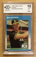 Mark McGwire Rookie 10 Mint 1987 Fleer Update Glossy #76 BCCG