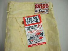 Men's EVISU EU ED Jeans 42 NWT Yellow style JE23