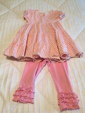 Matilda Jane Size 2 Dress And Ruffle Leggings Set