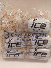 Ice Yarns Mohair Yarn, Flag Techno Loop, lot of 6 (90m ea) Cream Yellow Orange