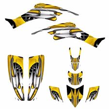 Honda TRX 400 EX Graphic sticker kit 1999 - 2007 Free Custom Service #4444Yellow