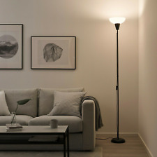 Ikea TAGARP Tall Floor Uplighter Lamp Uplighter, Black/White 180cm Long NEW