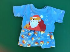 Build A Bear Christmas Santa Bear Snow Flakes Pajamas PJ's - NWOT