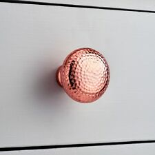 Large Copper Rose Gold Hammered Cupboard Door Knob Drawer Coloured Pull Handle