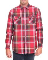 Enyce Mens Large Plaid Lightweight Long Sleeve Button Down Sean Combs Shirt NWT