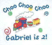 Personalized Boy or Girl Train Choo Choo Just Name or Birthday T Shirt Gift