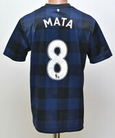 MANCHESTER UNITED 2013/2014 AWAY FOOTBALL SHIRT JERSEY NIKE MATA #8 SIZE M ADULT