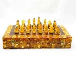 Hochwertiges Schachspiel aus Bernstein - Butterscotch - Amber - Honigbernstein