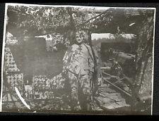 CARRIERES D'HAUDROMONT (55) Photo amateur CANON & MILITAIRE en TRANCHEE en 1916