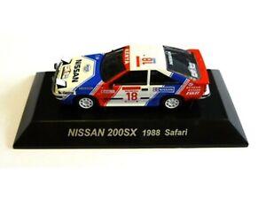 WOW EXTREMELY RARE Nissan Silvia 200SX Kirkland Safari 1988 WRC 1:64 CM's Kyosho