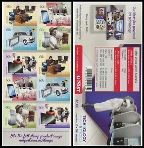2012 Technology Now & Then $6.00 Booklet - Unfolded