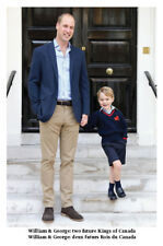 Prince William & Prince George Two Future Kings Postcard Father Son Royal Family
