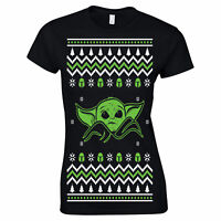 693 Baby Yoda Womens T-shirt Ugly Christmas Sweater Party holiday gift jedi new